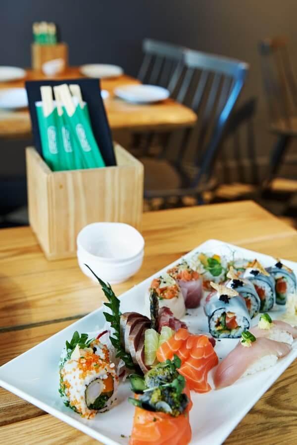 Prato com Sushi e Sashimi, Miss Jappa
